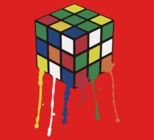 Rubik's Cube - Paint Splatter by teezie