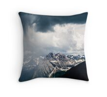 Green Storm Throw Pillow