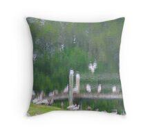 Backyard Watercolor 1 Throw Pillow