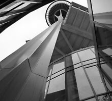 Underneath the Space Needle by spikeybwoy