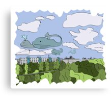 whales on the sky Canvas Print
