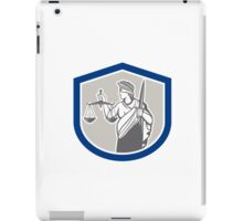 Lady Blindfolded Holding Scales Justice Sword Shield iPad Case/Skin