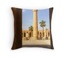 Interior of Karnak Temple, Luxor Throw Pillow