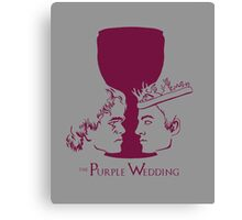 Purple Wedding Canvas Print