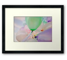 Happy Balloons Framed Print