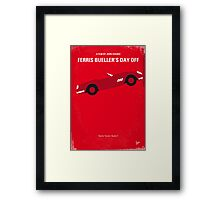 No292 My Ferris Bueller's day off minimal movie poster Framed Print
