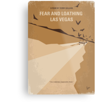 No293 My Fear and loathing Las vegas minimal movie poster Metal Print