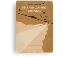 No293 My Fear and loathing Las vegas minimal movie poster Canvas Print