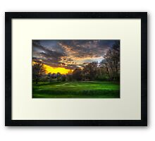 Masters Sunset Framed Print
