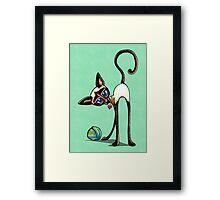Simaese Cat | Yarn Thief Framed Print
