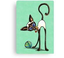Simaese Cat | Yarn Thief Canvas Print