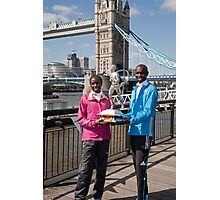 The Elite winners of the London Marathon 2014 Edna Kiplagat and Wilson Kipsang both from Kenya Photographic Print
