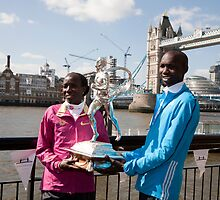 The Elite winners of the London Marathon 2014 Edna Kiplagat and Wilson Kipsang both from Kenya by Keith Larby