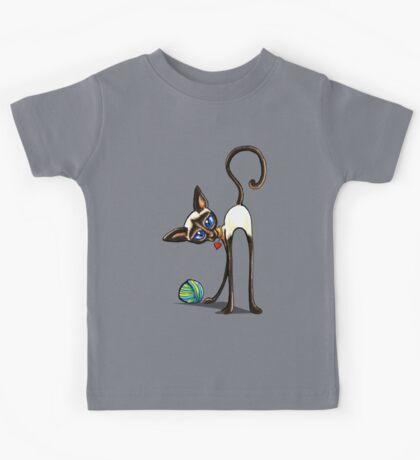 Simaese Cat | Yarn Thief Kids Tee