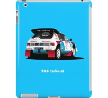 PEUGEOT 205 TURBO 16 RALLY CAR iPad Case/Skin