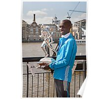 The Elite winner of the London Marathon 2014  Wilson Kipsang both from Kenya Poster