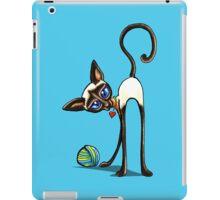 Simaese Cat   Yarn Thief iPad Case/Skin
