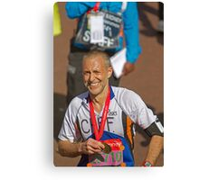 Michel Roux Jr with his London Marathon medal Canvas Print