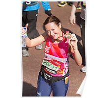 Amanda Mealing with her London Marathon medal Poster