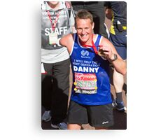 Danny Crates with his London Marathon medal Canvas Print