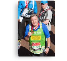 Ed Balls with his London Marathon medal Canvas Print