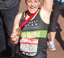 Ann Marie Robinson with her London Marathon medal by Keith Larby