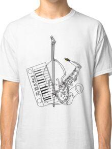 Saxophone, Double Bass, Keyboard  Classic T-Shirt
