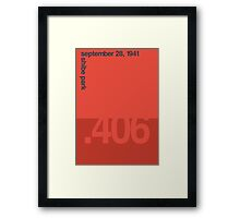 Ted Williams Hits 400 Framed Print