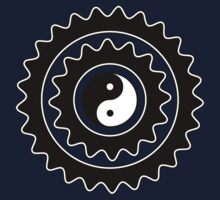 Bike Cycling Bicycle Sprocket Yin Yang Kids Clothes