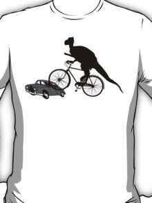 Bike Cycling Bicycle Dinosaur T-Shirt