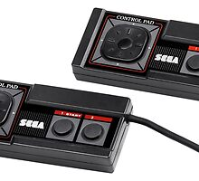 Sega Master System Controllers by mrtart