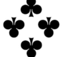 8 of Clubs Sticker