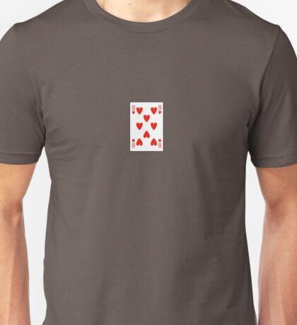 8 of hearts Unisex T-Shirt