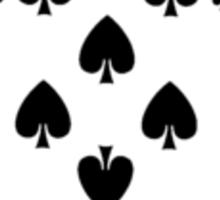 8 of spades Sticker