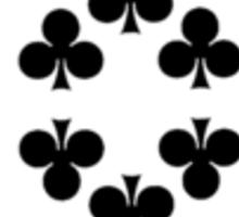 10 of clubs Sticker