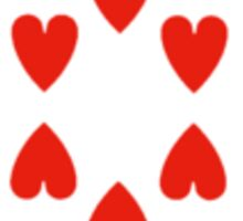 10 of hearts Sticker