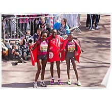 The Elite female winners of the London Marathon 2014  Poster