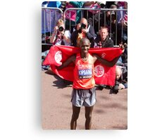 Wilson Kipsang after winning the London Marathon  Canvas Print