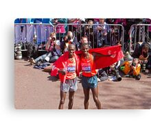 Kipsang & Biwott after winning the London Marathon Canvas Print