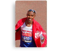 Mo Farah after finishing the London Marathon 2014 Canvas Print