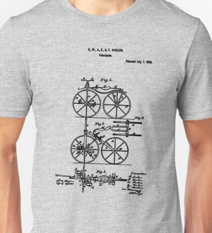 Bike Bicycle Tricycle Velocipede 1868 Hanlon Unisex T-Shirt