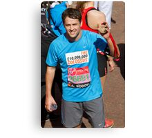 Michael Owen with his London Marathon medal Canvas Print