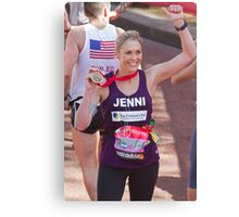 Jenni Faulkner with her London Marathon medal  Canvas Print