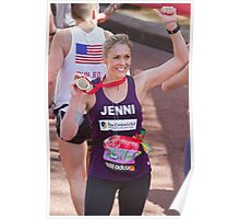 Jenni Faulkner with her London Marathon medal  Poster