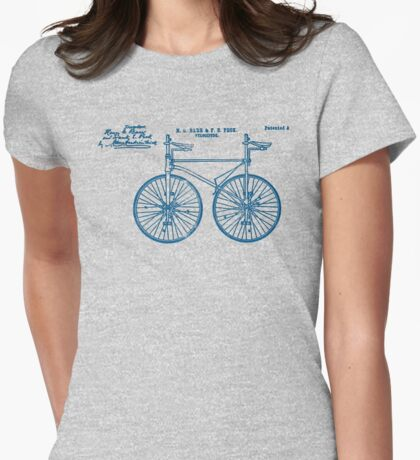 Tandem Bike Velocipede 1891 Peck Womens Fitted T-Shirt