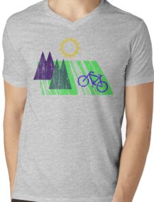 Bike Cycling Bicycle  Mens V-Neck T-Shirt