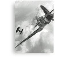 Spitfire VS Tie Fighter Metal Print