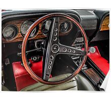 1970 Ford Mustang Mach 1 interior Poster