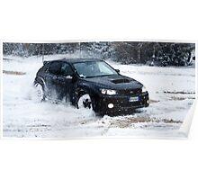 STI Drifting on the snow Poster