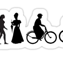 Bike Women's Evolution of Cycling Sticker